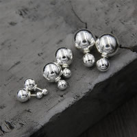 Двухместный Столкнувшись Стад Серьги, Серебро 925 пробы, разный размер для выбора & Женский, продается Пара