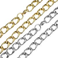 нержавеющая сталь Ожерелье цепь, твист овал & Женский, Много цветов для выбора, 16.50x11x6mm, длина:Приблизительно 18.5 дюймовый, 5пряди/Лот, продается Лот