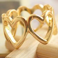 Модные кольца, цинковый сплав, плакирован золотом, Женский, не содержит никель, свинец, размер:10.5, продается PC