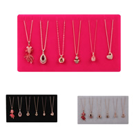 Velveteen Necklace Display with Cardboard Rectangle 25.3x8.5x11cm
