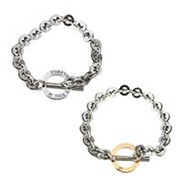 Пара браслет и браслет, нержавеющая сталь, Другое покрытие, с письмо узором, 22mm, 9x28.5x4mm, 9mm, 18mm, 7x21x3mm, 7mm, длина:Приблизительно 8 дюймовый, Приблизительно 7 дюймовый, 2пряди/указан, продается указан