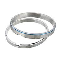 нержавеющая сталь Пара браслет, Другое покрытие, 8x2.5mm, 6x2.5mm, внутренний диаметр:Приблизительно 61x50mm, 58x48mm, 2ПК/указан, продается указан