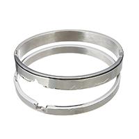 Пара браслет и браслет, нержавеющая сталь, оригинальный цвет, 8x2.5mm, 6x2.5mm, внутренний диаметр:Приблизительно 60x50mm, 58x48mm, 2ПК/указан, продается указан