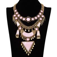 Акриловые ожерелья, цинковый сплав, с Акрил, с 3.1lnch наполнитель цепи, плакированный цветом под старое золото, Женский, не содержит никель, свинец, 180mm, Продан через Приблизительно 15.3 дюймовый Strand