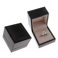 Velveteen Ring Box Cardboard with Velveteen Rectangle 65x60x54mm