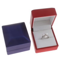 Velveteen Ring Box with Cardboard Square 60x65x50mm