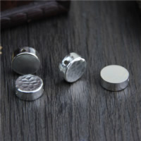 925 Sterling Silver European Beads Flat Round different designs for choice 12.60x5mm Hole:Approx 1.8mm 10PCs/Lot