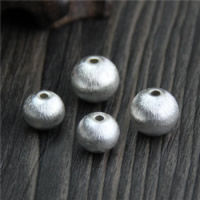 925 Sterling Silver European Beads Round brushed 10PCs/Lot