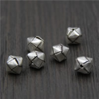 925 Sterling Zilver European Beads, Kubus, 10x10x10mm, Gat:Ca 1.2mm, 5pC's/Lot, Verkocht door Lot