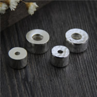 925 Sterling Silver European Beads Donut different styles for choice 5PCs/Lot