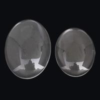 Кабошоны из стекла, Стеклянный, Овальная форма, разный размер для выбора & плоской задней панелью, 5ПК/сумка, продается сумка
