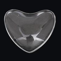Кабошоны из стекла, Стеклянный, Сердце, плоской задней панелью, 48x42x11mm, 5ПК/сумка, продается сумка