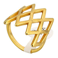 Stainless Steel Finger Ring gold color plated for woman 21mm US Ring Size:8