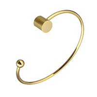 Stainless Steel Cuff Bangle gold color plated for woman 6mm 9x10mm 2.5mm Inner Diameter:Approx 62x45mm 5PCs/Lot