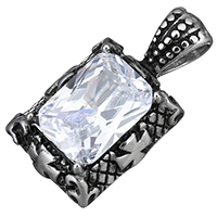 Подвески из кристаллов, нержавеющая сталь, с Кристаллы, Прямоугольная форма, эмаль & граненый, 15.50x29x8mm, отверстие:Приблизительно 4x6mm, продается PC