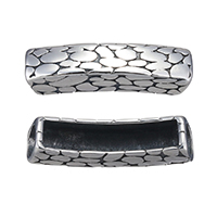 Stainless Steel Bracelet Finding blacken 35.50x9x8mm Hole:Approx 7mm 12PCs/Lot