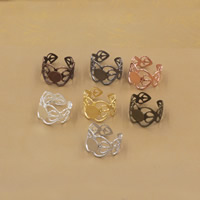 Brass Bezel Ring Base Flower plated nickel lead   cadmium free 8-16mm US Ring Size:6-9 20PCs/Bag