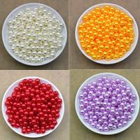 ABS пластик жемчужина Бусины, Круглая, Много цветов для выбора, 8mm, отверстие:Приблизительно 2.2mm, 100ПК/сумка, продается сумка