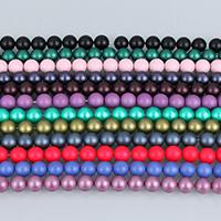 Бусины из ракушек с Южного моря, южноморская ракушка, Круглая, натуральный, разный размер для выбора & глазированный, Много цветов для выбора, Оценка А.А., отверстие:Приблизительно 0.5-1.5mm, Продан через Приблизительно 16 дюймовый Strand