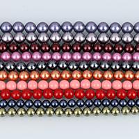 Бусины из ракушек с Южного моря, южноморская ракушка, Круглая, натуральный, разный размер для выбора, Много цветов для выбора, Оценка А.А., отверстие:Приблизительно 0.5-1.5mm, Продан через Приблизительно 16 дюймовый Strand