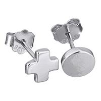 Асимметричные серьги, Серебро 925 пробы, Женский, 6x6mm, 6mm, 5Пары/Лот, продается Лот