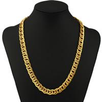 Цепочки из латуни, Латунь, плакирован золотом, цепь из двойных кольц, не содержит никель, свинец, 10mm, Продан через Приблизительно 21.5 дюймовый Strand