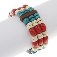 Деревянные браслеты, деревянный, крашеный, 24x6.5mm, Продан через Приблизительно 7 дюймовый Strand