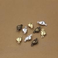 Ювелирные коннекторы, Латунь, Сердце, Другое покрытие, 1/1 петля, Много цветов для выбора, не содержит никель, свинец, 10x5mm, отверстие:Приблизительно 1.5mm, 200ПК/сумка, продается сумка