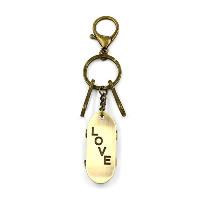 Брелки для ключей, цинковый сплав, Скейтборд, слова любви, Покрытие под бронзу старую, 145mm, 54mm, 30mm, 3пряди/Лот, продается Лот