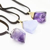 Полудрагоценный камень Свитер ожерелье, с железный обруч & Искусственная кожа & Латунь, Другое покрытие, Женский, разноцветный, 25x700mm, длина:Приблизительно 27.5 дюймовый, 3пряди/сумка, продается сумка