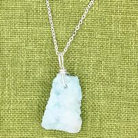 Ледниковый кварц-агат Ожерелье, с железный обруч & Латунь, с 7cm наполнитель цепи, плакирован серебром, Овальный цепь & Женский, небесно-голубой, 22x480mm, длина:Приблизительно 18.5 дюймовый, 3пряди/сумка, продается сумка