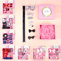 Детей волосы аксессуар, Сатиновая лента, с Кружево & гросгрейнская лента, для детей & разные стили для выбора, 175x165x70mm, продается Box