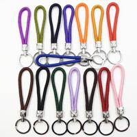 Брелки для ключей, Нейлоновый шнурок, с цинковый сплав, Платиновое покрытие платиновым цвет, Много цветов для выбора, 125x28mm, продается PC