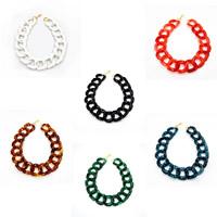 Акриловые ожерелья, Акрил, с цинковый сплав, Женский, Много цветов для выбора, 500mm, Продан через Приблизительно 19.5 дюймовый Strand