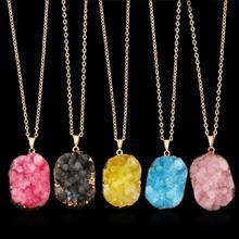 Ожерелье из агата, цинковый сплав, с Ледниковый кварц-агат, плакирован золотом, Женский, Много цветов для выбора, не содержит свинец и кадмий, 480mm, Продан через Приблизительно 18.5 дюймовый Strand
