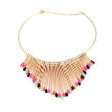 Ожерелье Мода Choker, цинковый сплав, плакирован золотом, Женский & эмаль, не содержит свинец и кадмий, 100x140x80mm, Продан через Приблизительно 13 дюймовый Strand