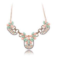 Ожерелье Мода Choker, цинковый сплав, с Акрил, плакирован золотом, твист овал & Женский, не содержит свинец и кадмий, 320mm, Продан через Приблизительно 12.5 дюймовый Strand