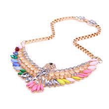 Ожерелье из кристаллов, цинковый сплав, с ABS пластик жемчужина & Кристаллы & Акрил, плакирован золотом, Цепной ящик & Женский & граненый, не содержит свинец и кадмий, 320x135x67mm, Продан через Приблизительно 17.5 дюймовый Strand