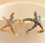 цинковый сплав Манжеты палец кольцо, Морская звезда, Женский & эмаль, Много цветов для выбора, не содержит свинец и кадмий, 22x16mm, размер:6-10, продается PC