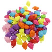 акриловые кулоны, Акрил, Виноград, ровный цвет, разноцветный, 15.50x21x9.50mm, отверстие:Приблизительно 2.5mm, 500G/сумка, продается сумка