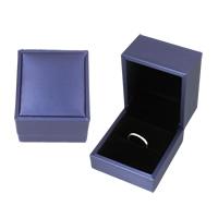 Бархатная коробочка для кольца, Бархат, с картон, Прямоугольная форма, 60x66x52mm, продается PC