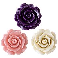 Подвески из смолы, канифоль, Форма цветка, Много цветов для выбора, 30x30x13mm, отверстие:Приблизительно 2mm, продается PC