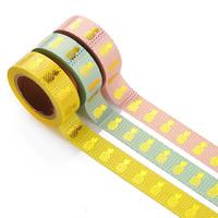 бумага Декоративные ленты, Круглая форма, липкие & бронзирование, Много цветов для выбора, 15mm, 10ПК/сумка, Приблизительно 10м/PC, продается сумка