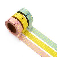 Декоративные ленты, бумага, Круглая форма, липкие & бронзирование, Много цветов для выбора, 15mm, 10ПК/сумка, Приблизительно 10м/PC, продается сумка