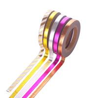 Декоративные ленты, бумага, липкие & разнообразный & бронзирование, 5mm, 5ПК/сумка, Приблизительно 10м/PC, продается сумка