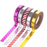 Декоративные ленты, бумага, липкие & разнообразный & бронзирование, 8mm, 5ПК/сумка, Приблизительно 10м/PC, продается сумка