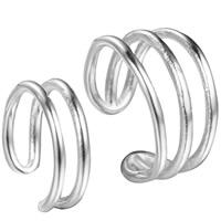 Модные серьги каффы, Латунь, плакированный настоящим серебром, Женский, не содержит свинец и кадмий, 3.2mm, 6.9mm, продается Пара