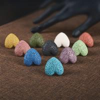 лава Открыть палец кольцо, с Железо, Сердце, Другое покрытие, регулируемый & Женский, Много цветов для выбора, 16-18mm, размер:6-8, продается PC