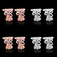 Модные серьги каффы, Латунь, Форма цветка, Другое покрытие, с кубическим цирконием, Много цветов для выбора, не содержит свинец и кадмий, 11x13mm, продается Пара