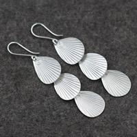 Серебро 925 пробы Сережка, Женский, 16x74mm, продается Пара